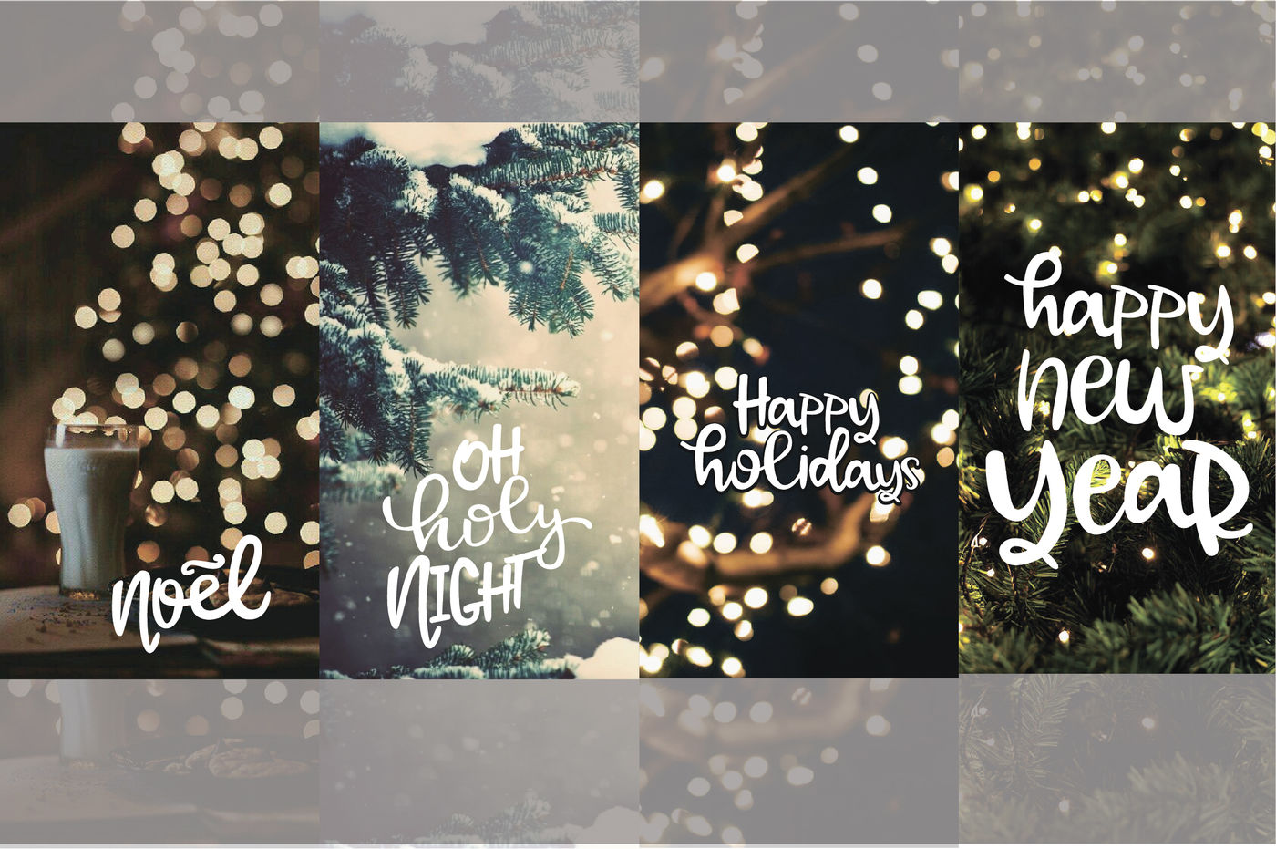 Christmas Lettering Clipart By Mio Buono Thehungryjpeg Com