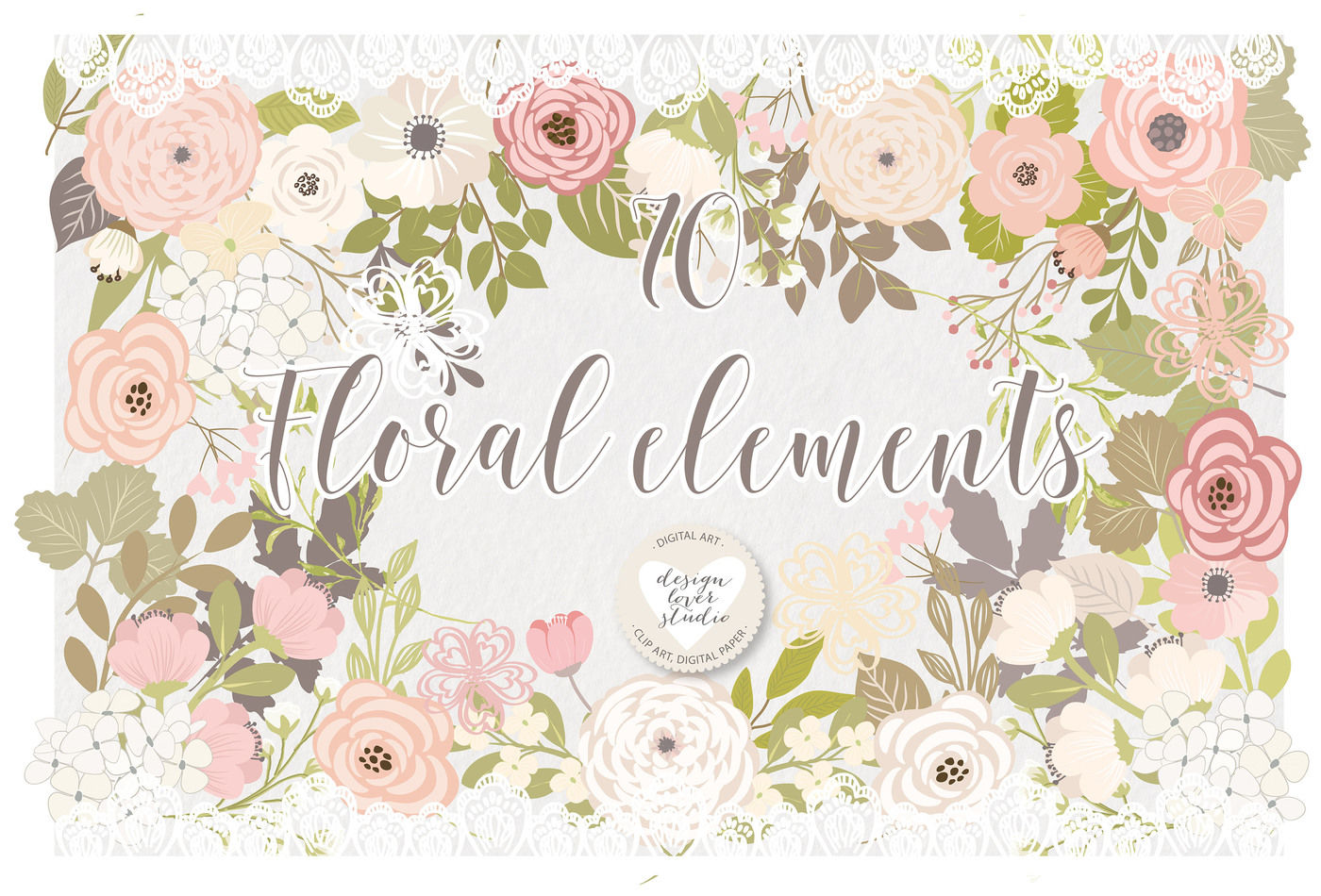 Shabby Chic Flowers Png Clipart (#40294) - PinClipart