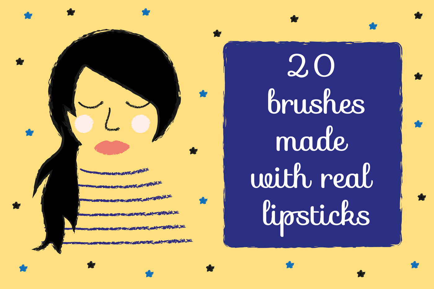Lipstick Illustrator Brushes By Yolidoo | TheHungryJPEG com