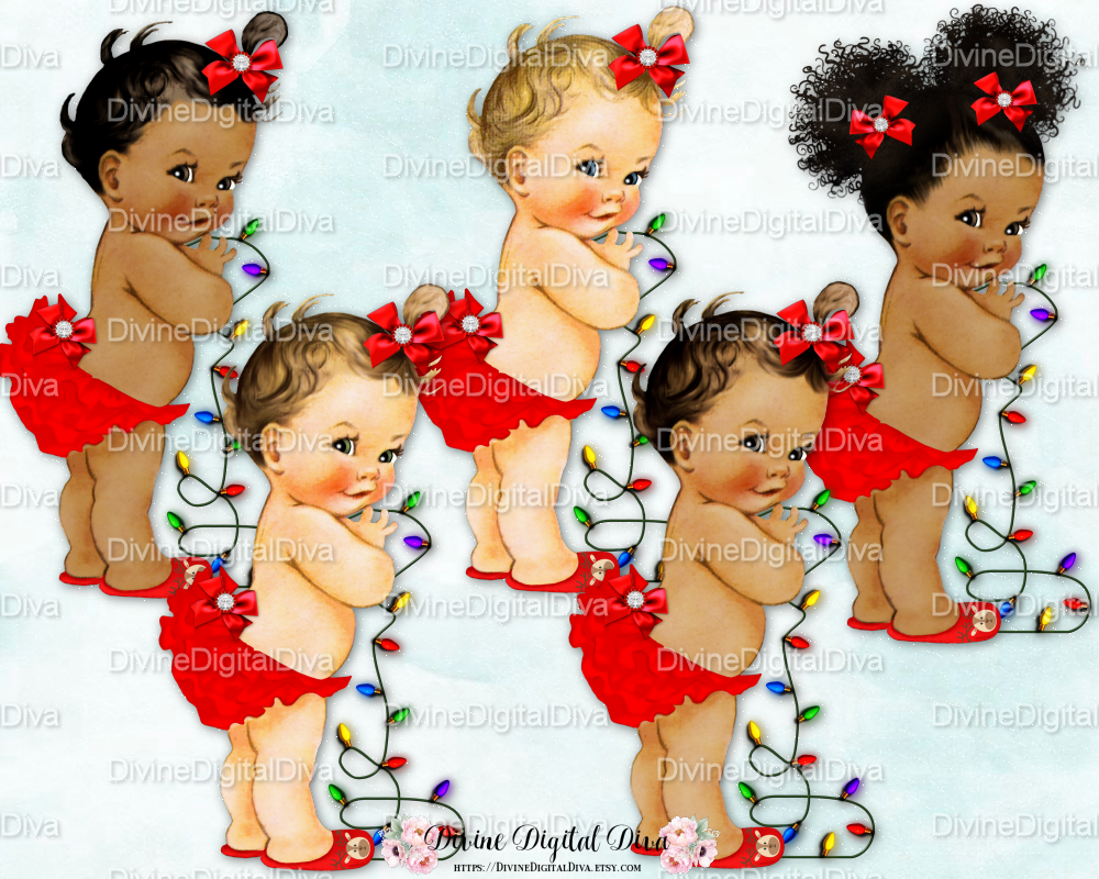 Little Ruffle Pants Christmas Vintage Baby By Divine Digital Diva