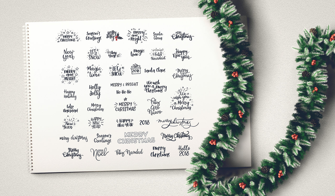 Christmas And New Year Vector Set By Anmark Thehungryjpeg Com