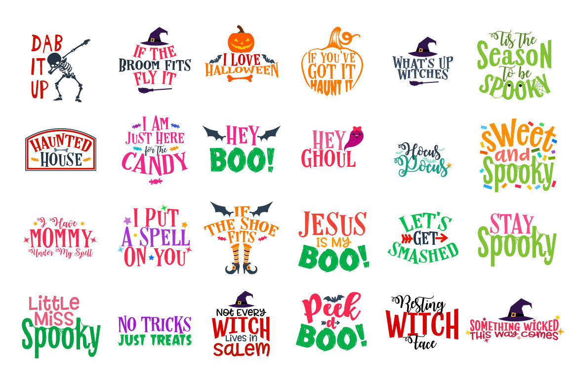 Halloween Bundle 106 Halloween Quotes Sayings In Svg Dxf Cdr