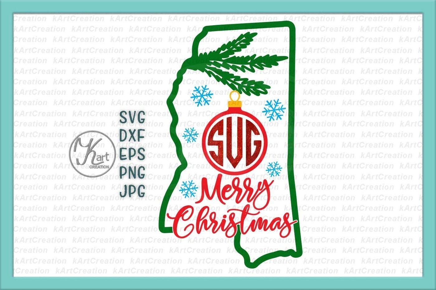 Christmas State Mississippi Svg Mississippi Monogram Mississippi Christmas Svg Mississippi Christmas Iron On Mississippi Svg Iron On By Kartcreation Thehungryjpeg Com