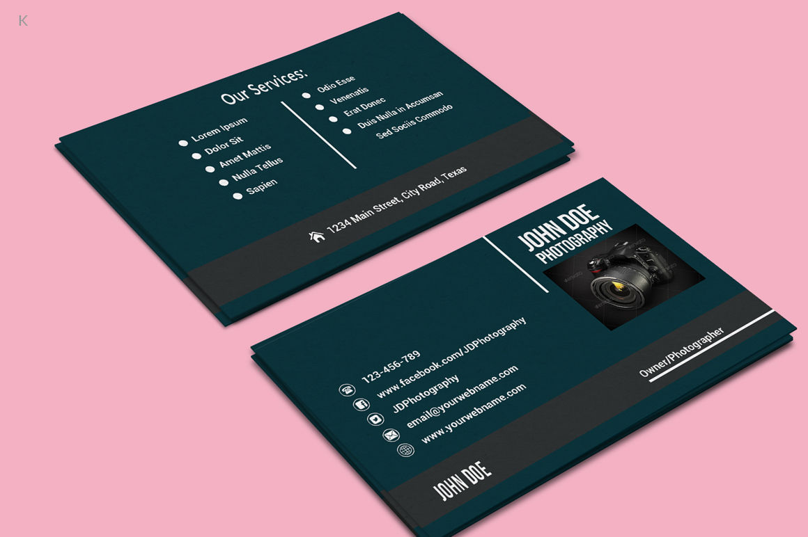 photography business card templateayme designs