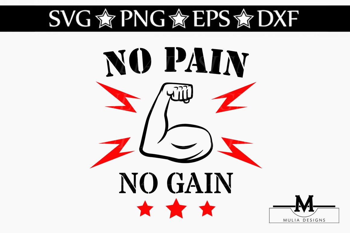 No Pain No Gain Svg By Mulia Designs Thehungryjpeg Com