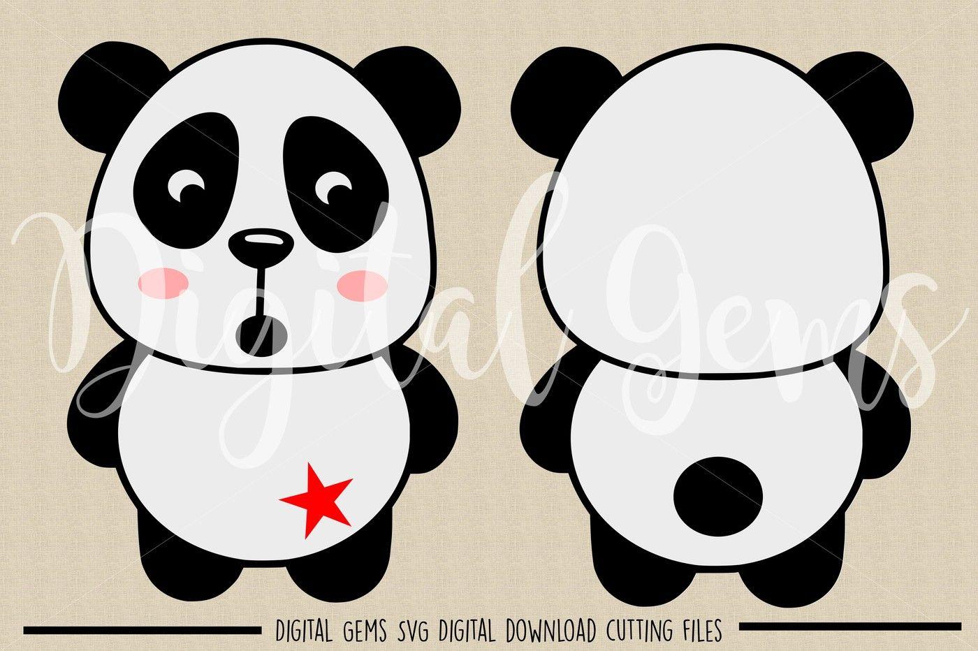 Panda Svg Dxf Eps Png Files By Digital Gems Thehungryjpeg Com