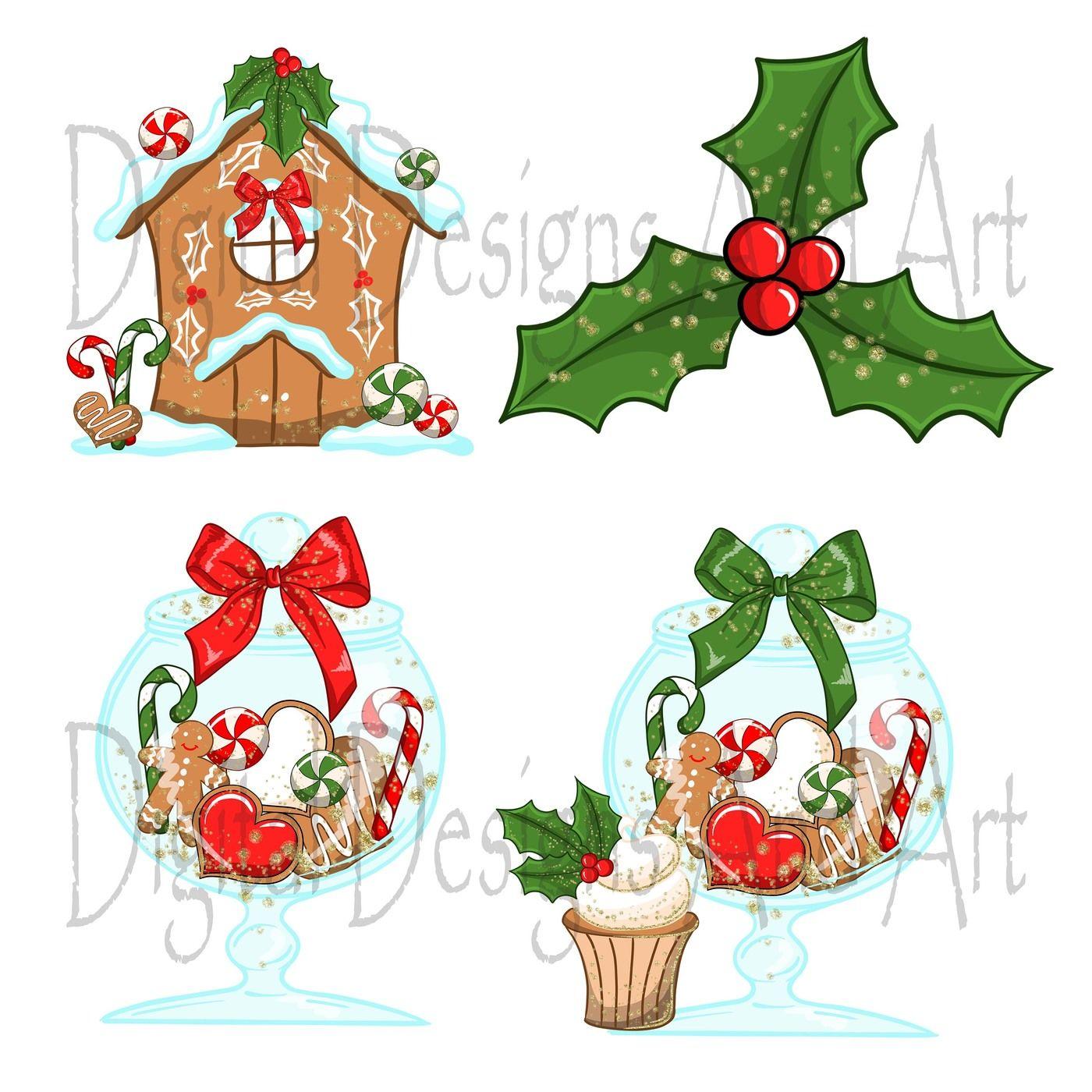 Christmas Cookies Clipart By Digitaldesignsandart Thehungryjpeg Com