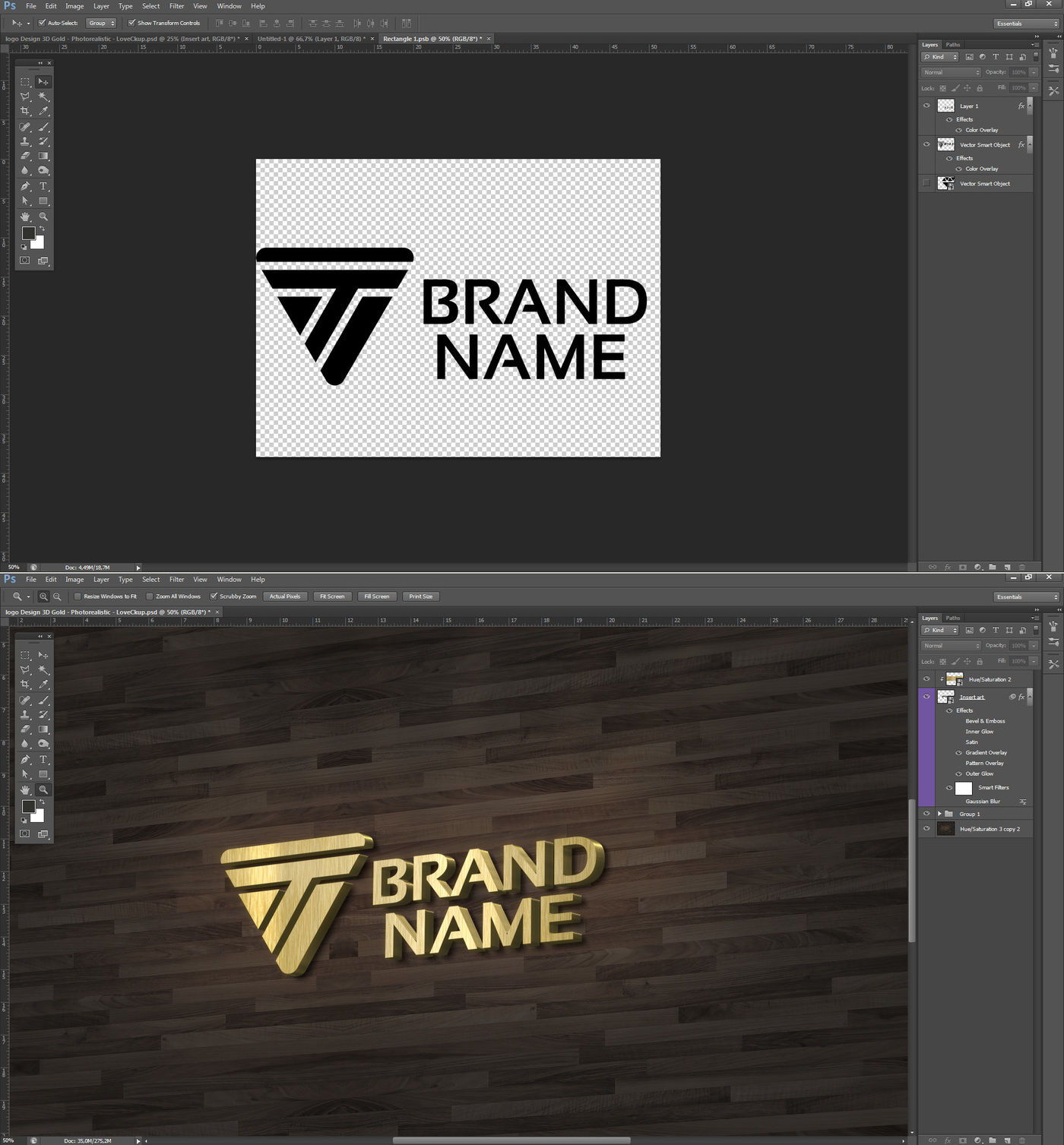 lettering 3D Mockup Gold By Milan Mockup   TheHungryJPEG com