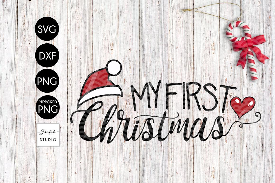 My First Christmas Cute Christmas Svg File Bundle By Grafikstudio