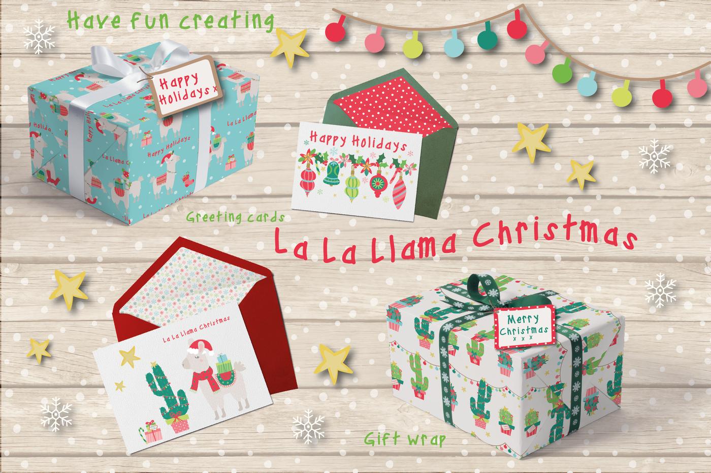 Christmas Llamas By Poppymoon Design Thehungryjpeg Com