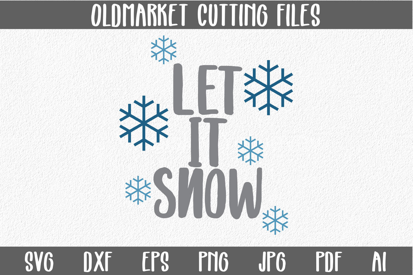 Let It Snow Svg Cut File Christmas Svg By Shannon Keyser Thehungryjpeg Com