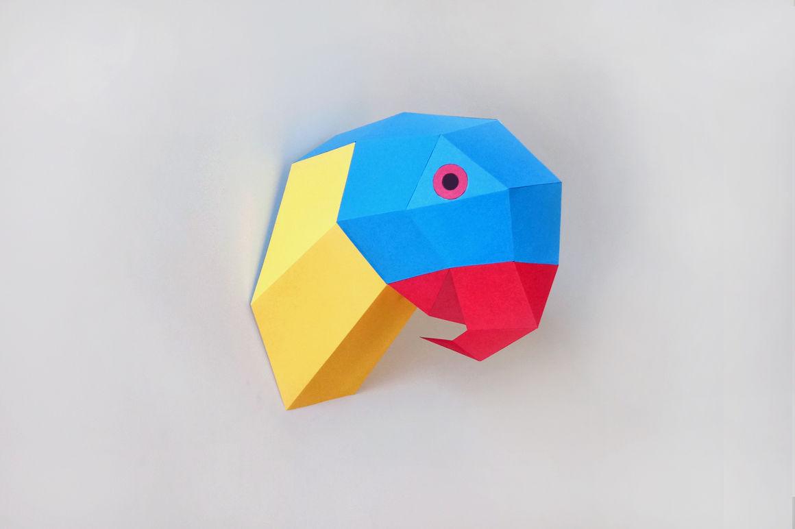KF_4860] Origami Parrot Diagram | 772x1160
