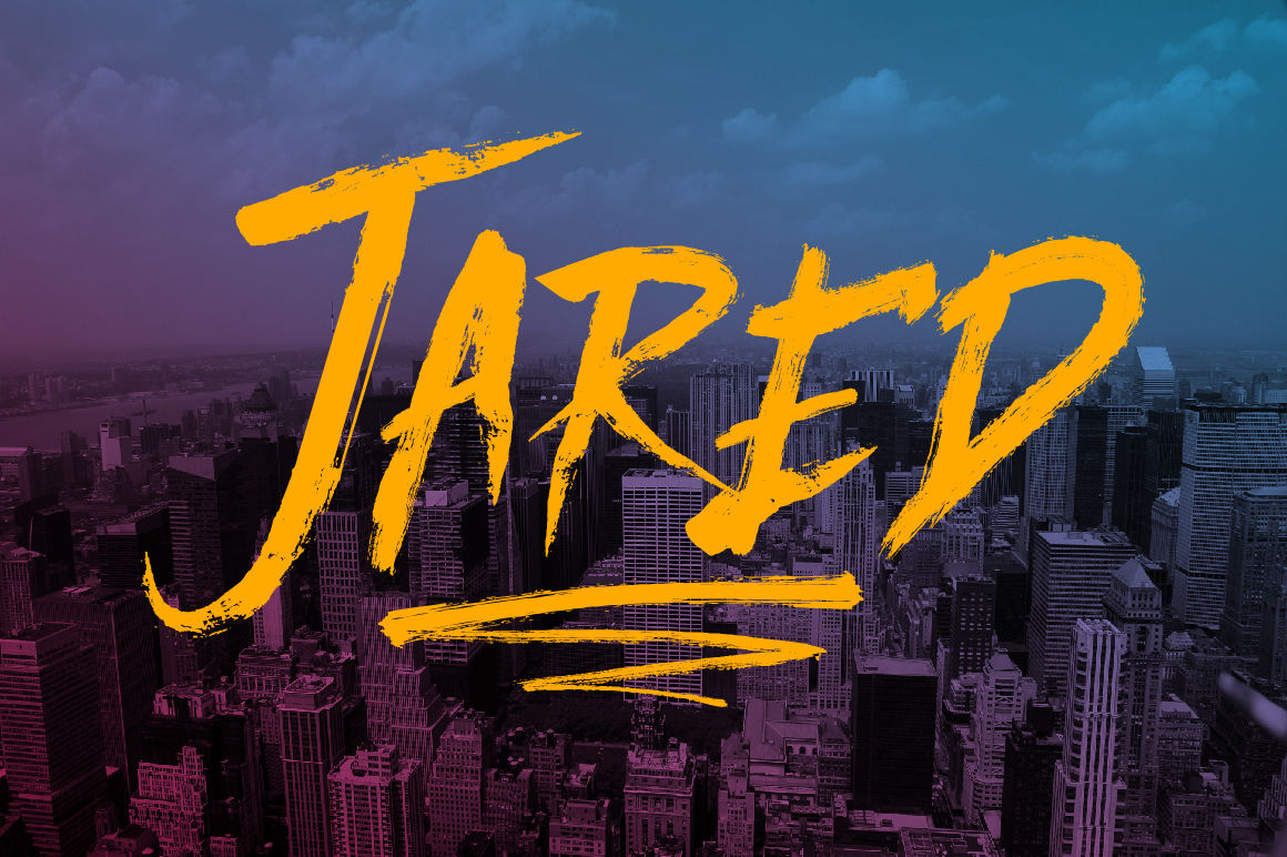 Jared By Fontdation Studio Thehungryjpeg Com