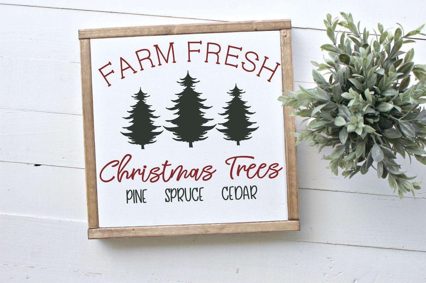 Farm Fresh Christmas Trees Svg.Farm Fresh Christmas Trees Svg By Rosemary Designs