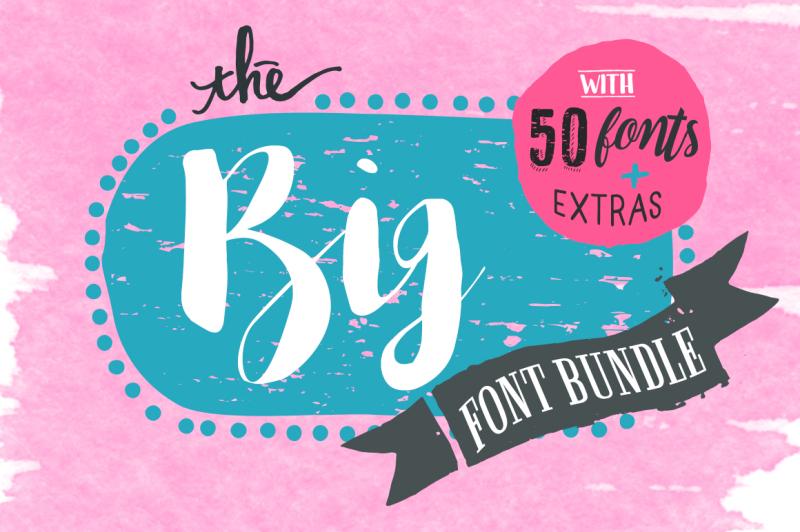 The Big Font Bundle By Thehungryjpeg Thehungryjpeg Com