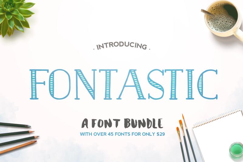 The Fontastic Font Bundle By Thehungryjpeg Thehungryjpeg Com