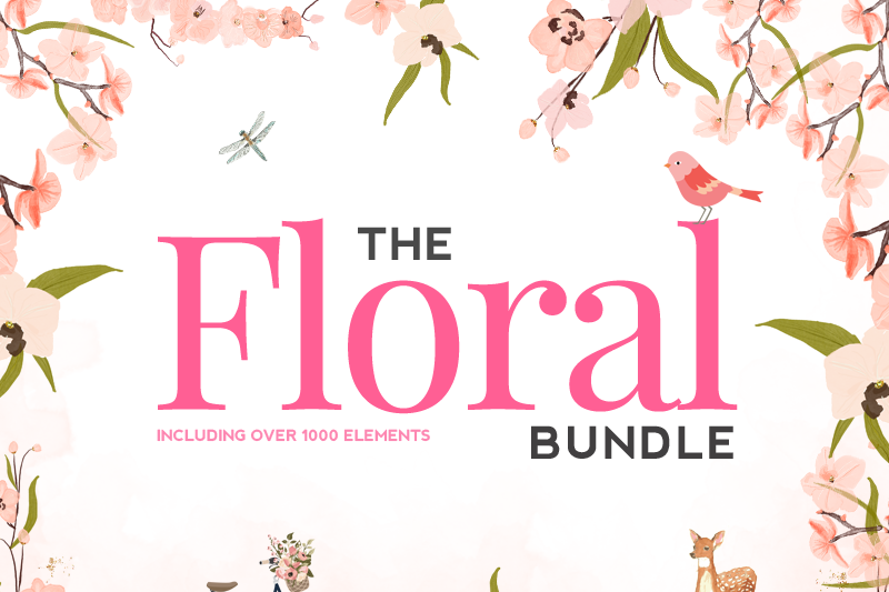 The Floral Bundle By Thehungryjpeg Thehungryjpeg Com