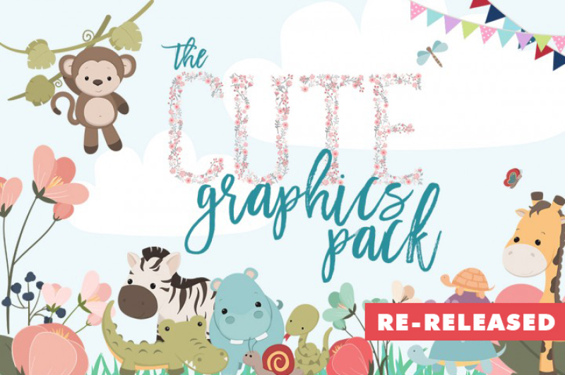 The Cute Graphics Pack By Thehungryjpeg Thehungryjpeg Com