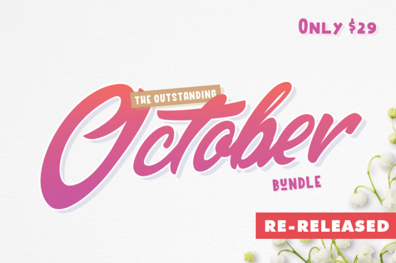 The Outstanding October Bundle By Thehungryjpeg Thehungryjpeg Com
