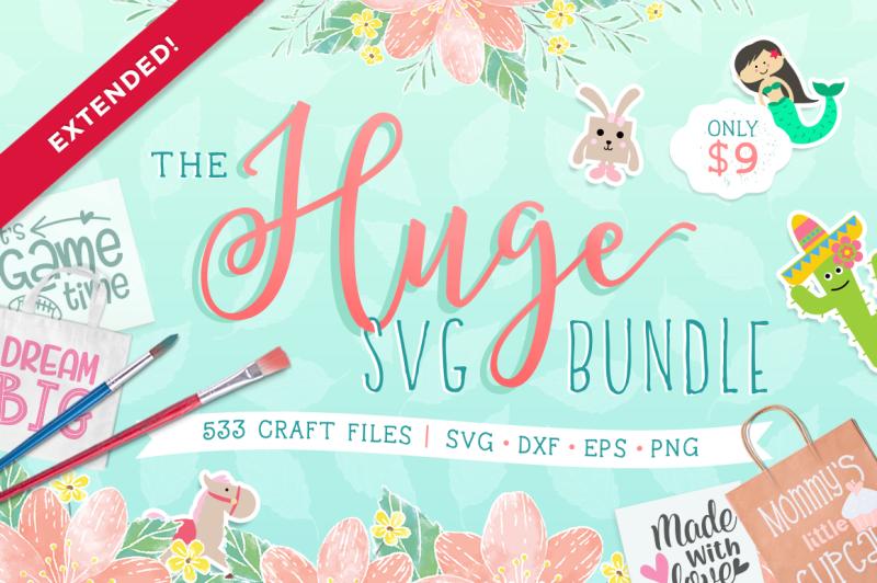 The Huge SVG Bundle By TheHungryJPEG   TheHungryJPEG com