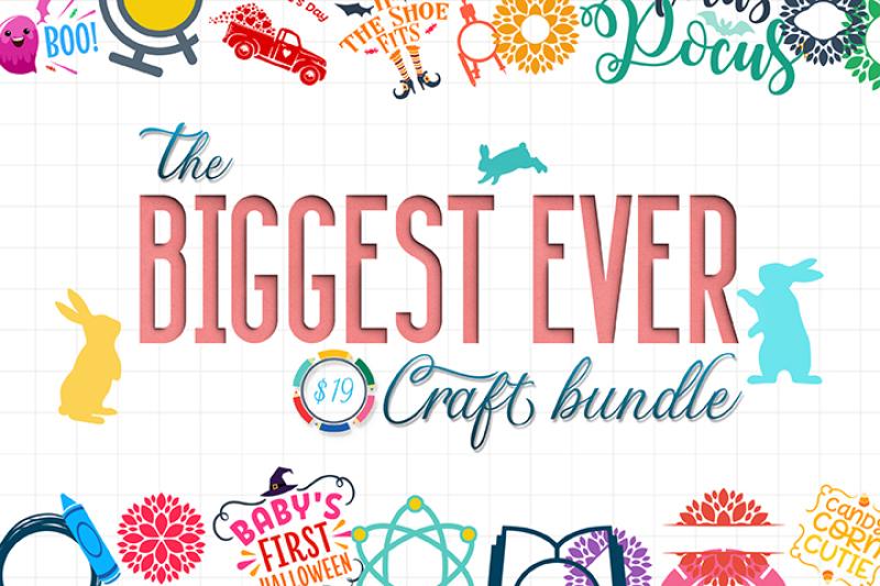 The Biggest Ever Craft Bundle By Thehungryjpeg Thehungryjpeg Com