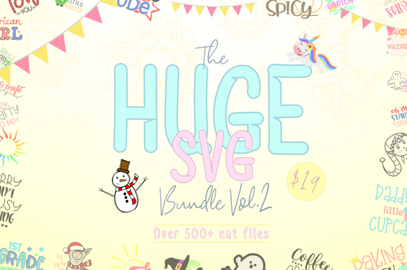 The Huge SVG Bundle Vol 2 By TheHungryJPEG | TheHungryJPEG com