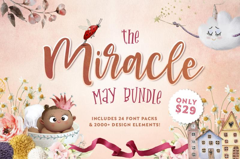 The Miracle May Bundle By Thehungryjpeg Thehungryjpeg Com