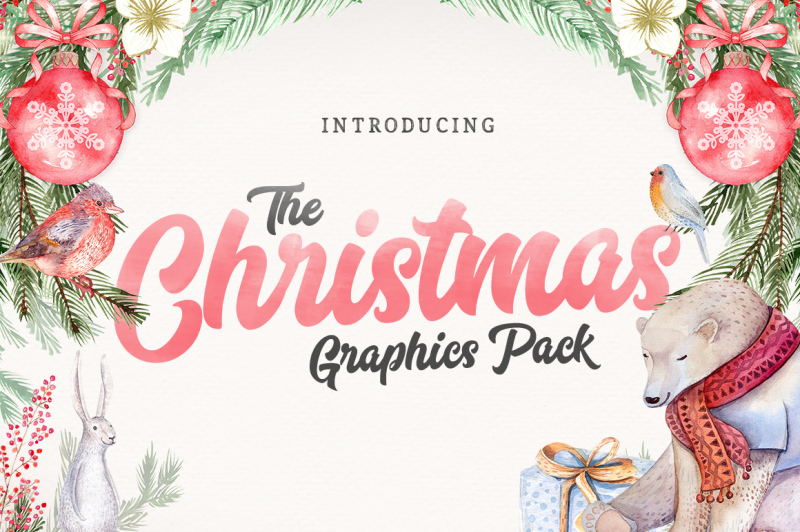 The Christmas Graphics Pack By Thehungryjpeg Thehungryjpeg Com