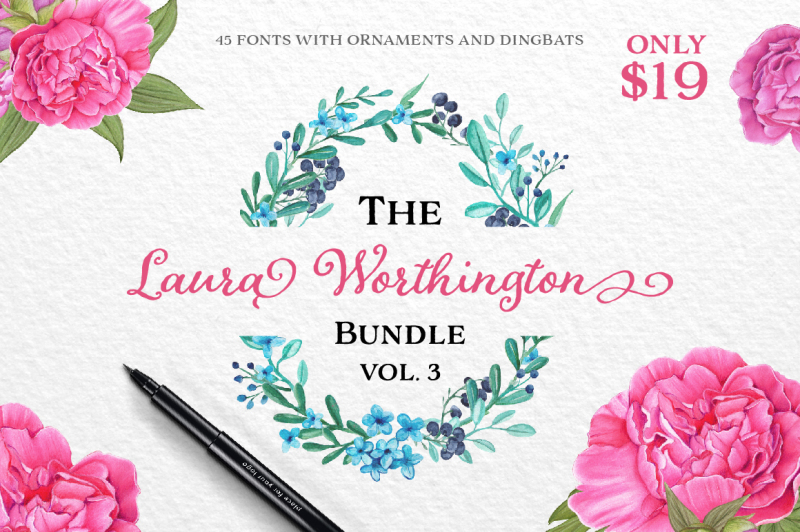 The Laura Worthington Bundle [Vol  03] By TheHungryJPEG