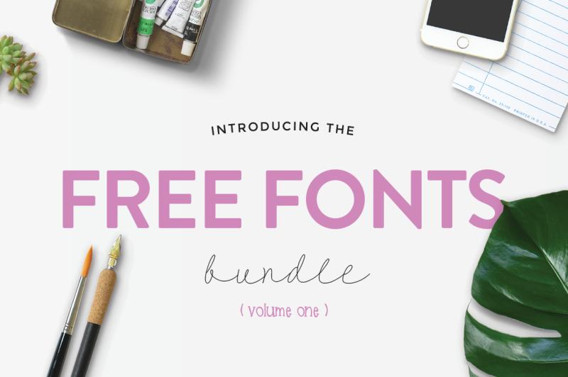The Free Font Bundle By TheHungryJPEG | TheHungryJPEG.com