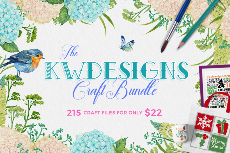 The Kwdesigns Craft Bundle By Thehungryjpeg Thehungryjpeg Com