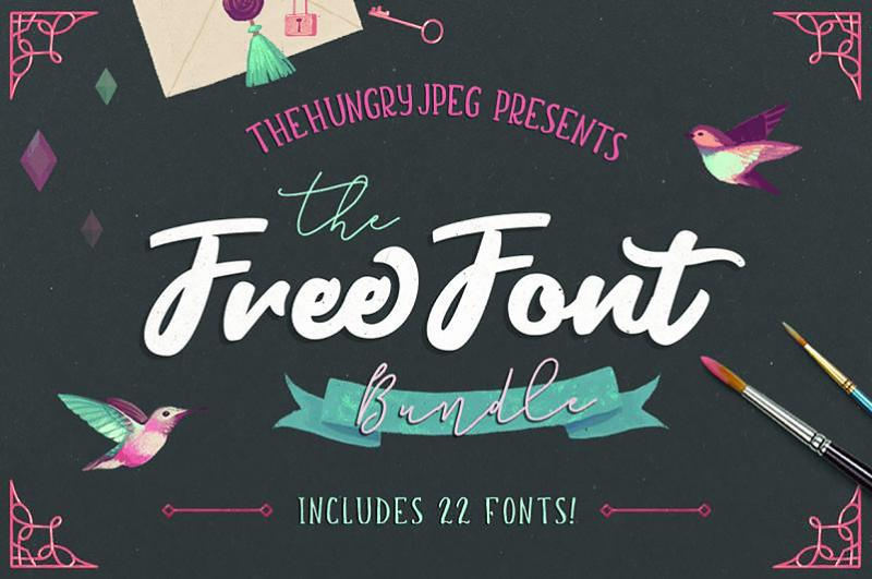 The Hungry JPEG Font Bundle