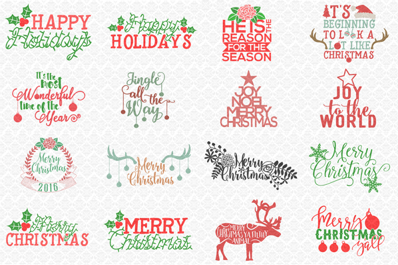 The Christmas Craft Bundle By Thehungryjpeg Thehungryjpeg Com