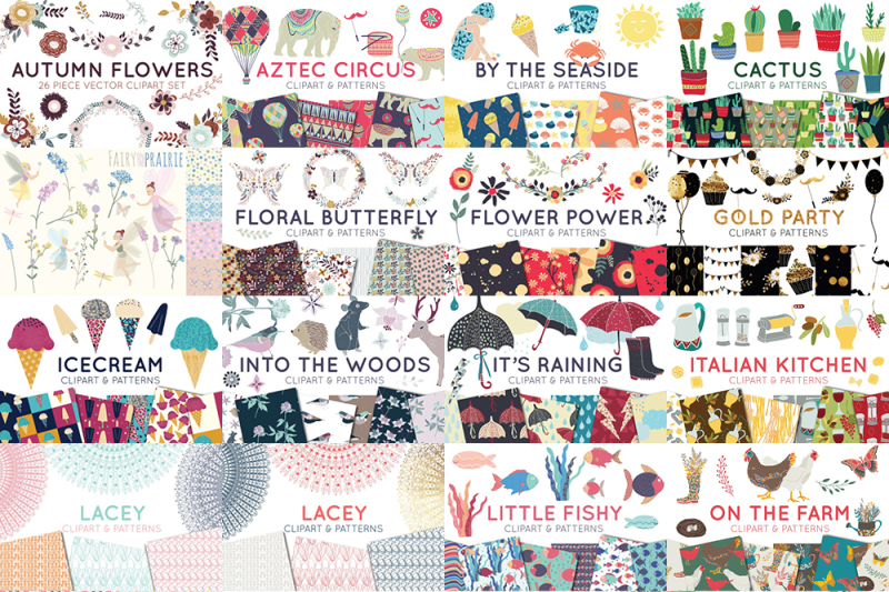 The Clipart Patterns Pack By Thehungryjpeg Thehungryjpeg Com