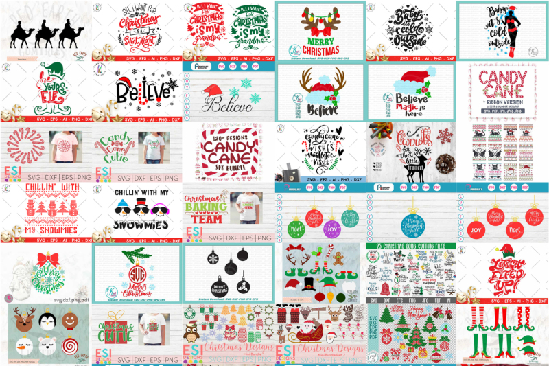 The Crafty Christmas Collection By Thehungryjpeg Thehungryjpeg Com