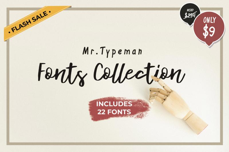 Mr Typeman Fonts Collection By Thehungryjpeg Thehungryjpeg Com