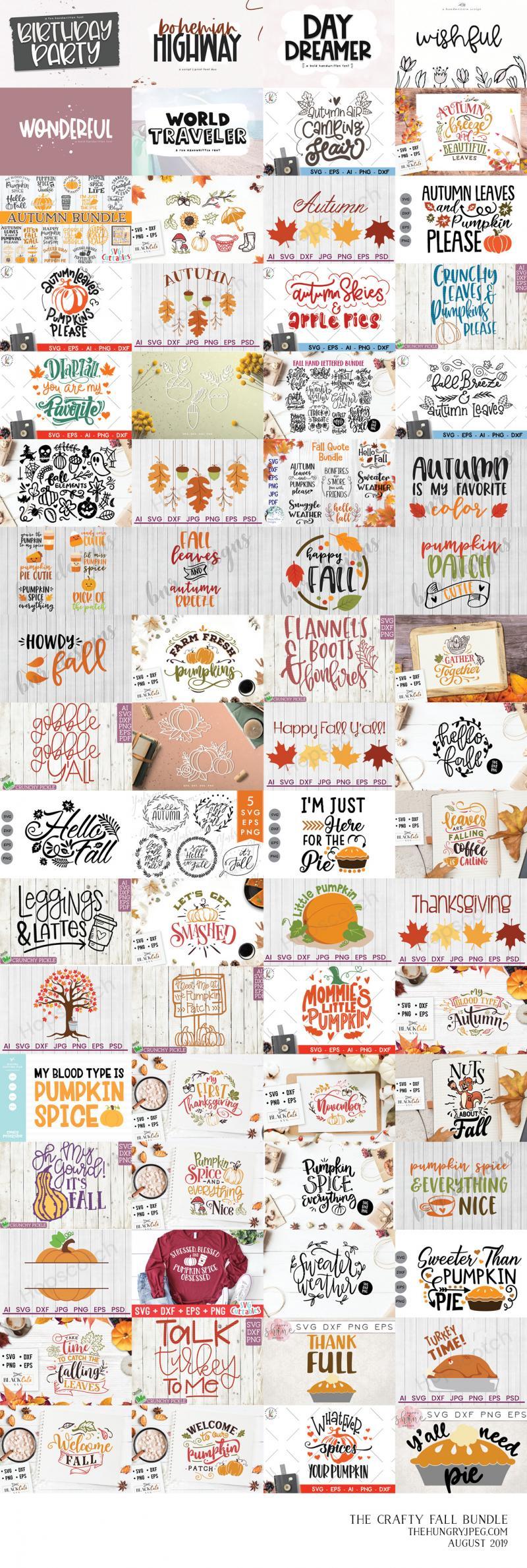 The Crafty Fall Bundle By Thehungryjpeg Thehungryjpeg Com