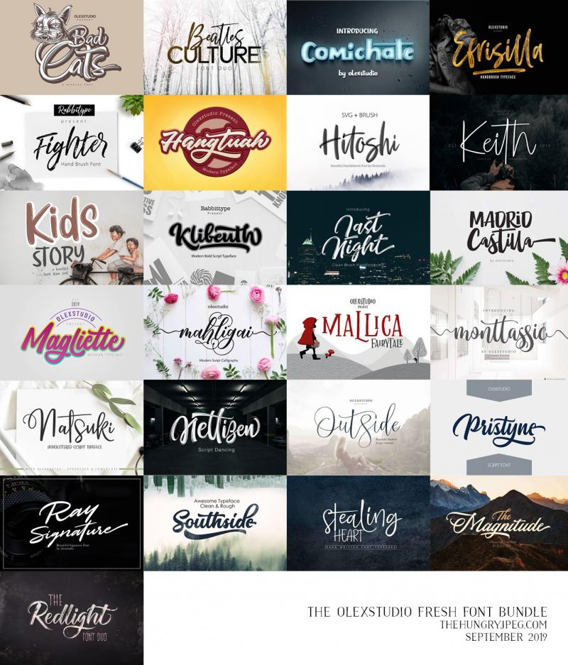 The Olex Studio Fresh Font Bundle By Thehungryjpeg Thehungryjpeg Com