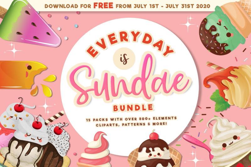 Everyday Is Sundae Bundle By TheHungryJPEG