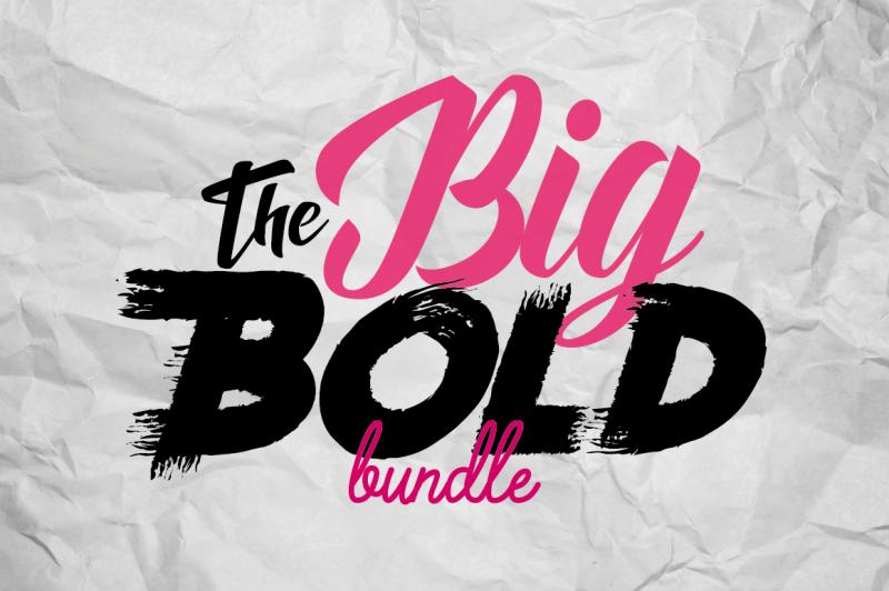 Download The Big Bold Font Bundle By TheHungryJPEG | TheHungryJPEG.com