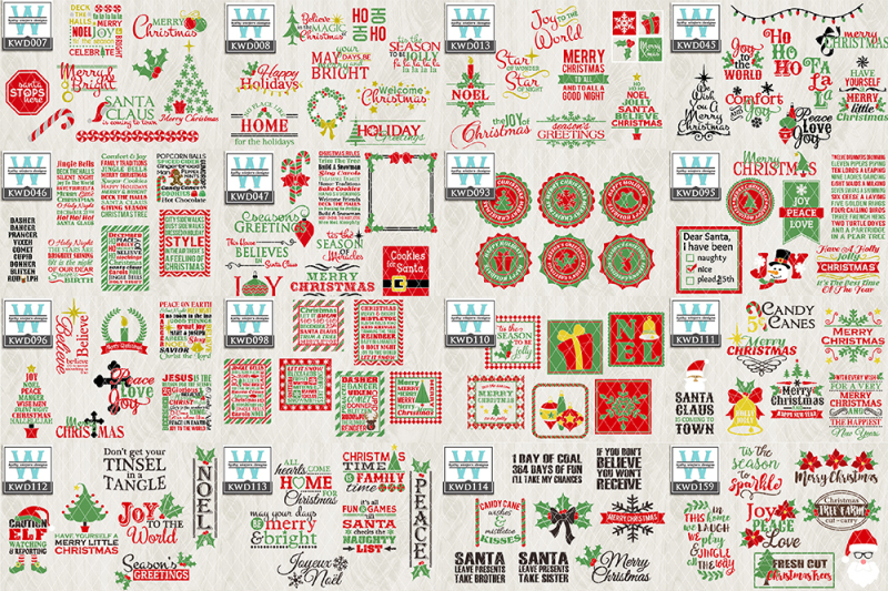 Download Christmas Cutting File Kwd113F Image