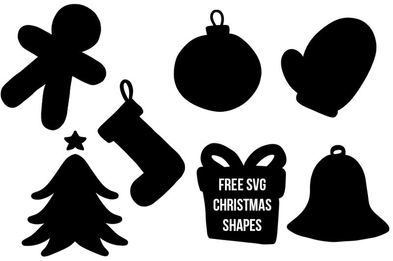 Free Christmas Shapes By Thehungryjpeg Thehungryjpeg Com