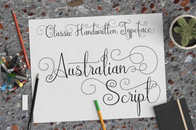 Australian Script By TheHungryJPEG | TheHungryJPEG.com