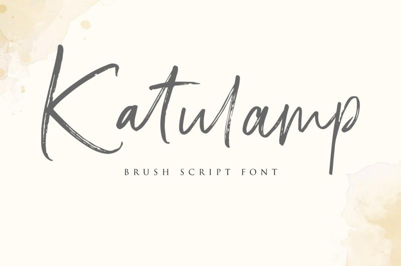 FREE Katulamp - Brush Script Font By TheHungryJPEG | TheHungryJPEG com