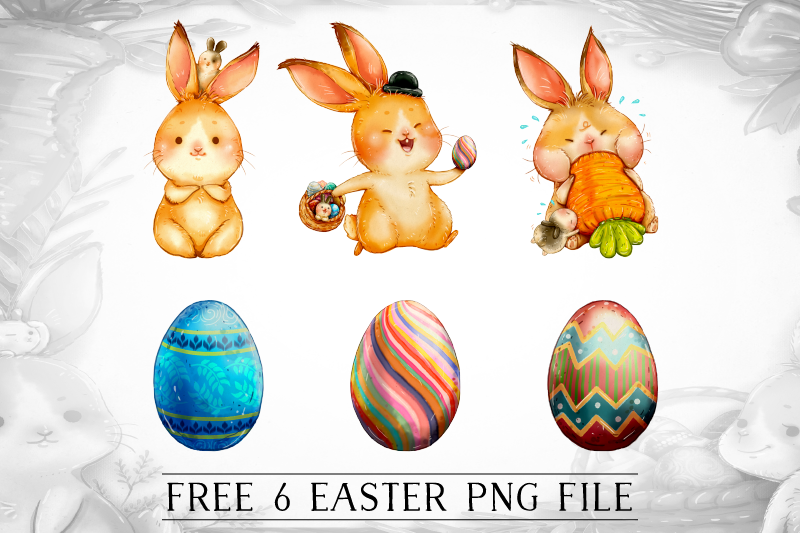 FREE Easter Hop By TheHungryJPEG