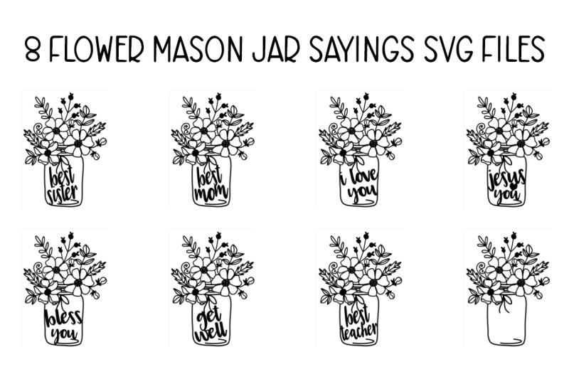 Free Flower Mason Jar Files By Thehungryjpeg Thehungryjpeg Com