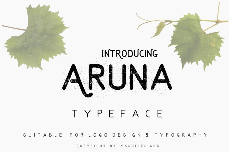 The Aruna Font By Thehungryjpeg Thehungryjpeg Com