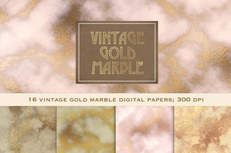 Free Vintage Gold Marble By Thehungryjpeg Thehungryjpeg Com