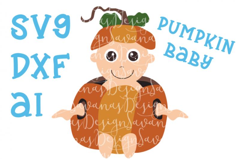Free Svg File Pumpkin Baby Cut File By Thehungryjpeg