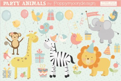 FREE Party Animals Graphics Pack